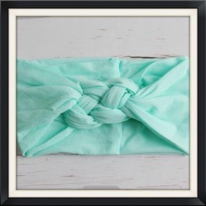 Other - Boutique Baby Girls Mint Green Braided Headband